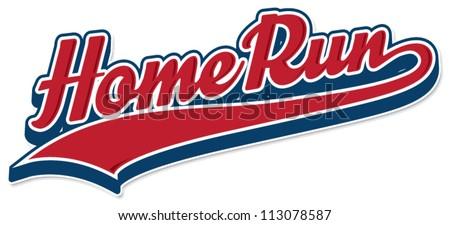 Home Run - stock vector