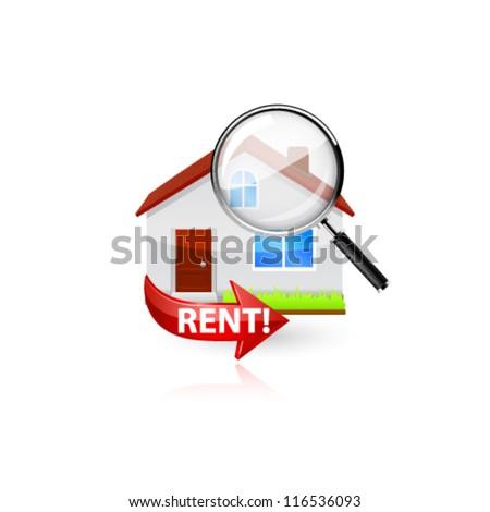 Home search icon. Vector - stock vector
