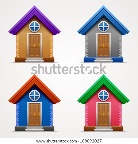 Home set icons. Home icons collection - stock vector