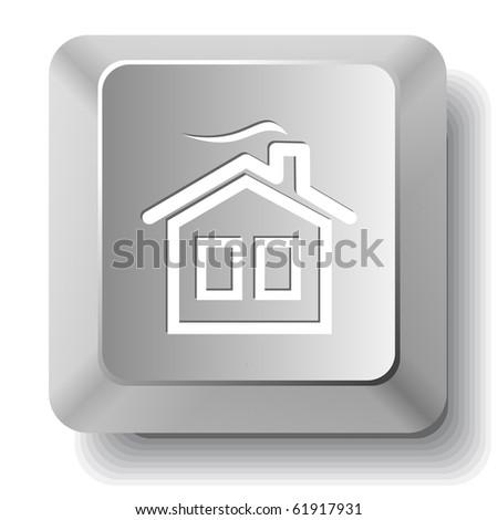 Home. Vector computer key. - stock vector