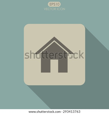 Home vector icon. - stock vector