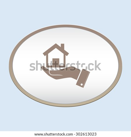Home vector icon - stock vector
