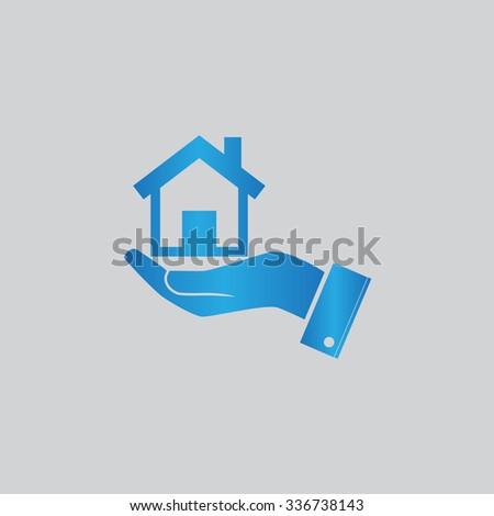 Home vector icon - stock vector