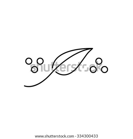 Homeopathy natural healing black linear icon on white background | flat design alternative healing illustration and infographic - stock vector