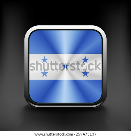 Honduras icon flag national travel icon country symbol button. - stock vector