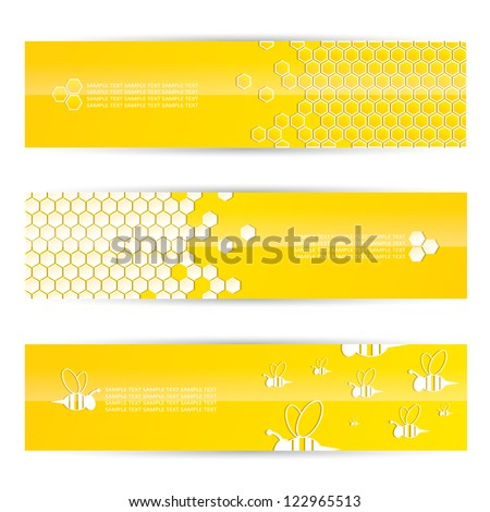 Honey banners - vector illustration - stock vector