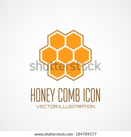 Honey comb icon. Vector illustration - stock vector