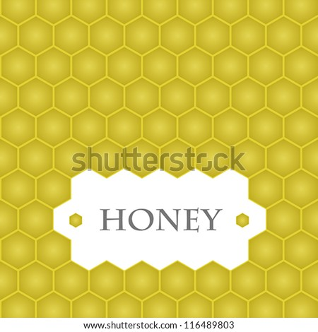 honey template. honey template concept. - stock vector