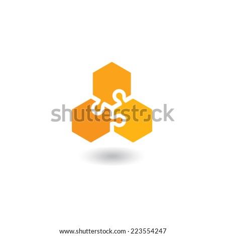 honeycomb logo - stock vector