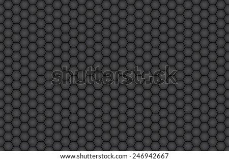 Honeycomb seamless background. Vector - stock vector