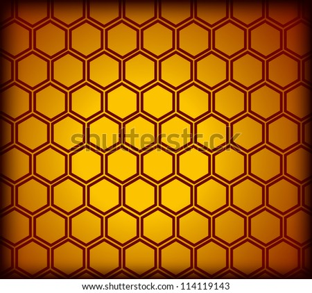 Honeycomb seamless pattern. Vector illustration - stock vector