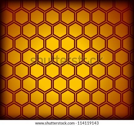 Honeycomb seamless pattern. Vector illustration - stock vector