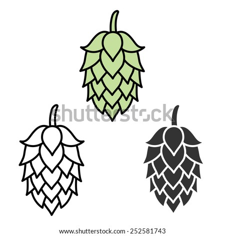 hop symbol stock photos  images    pictures shutterstock Barley and Hops Drawing Barley Malt Vector