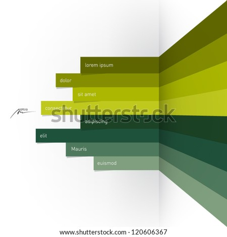 horizontal abstract lines - design template - stock vector