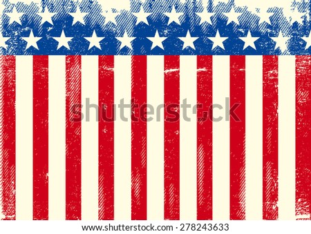Horizontal American grunge flag. An horizontal American background for you. Ideal for your tablet or your screen - stock vector