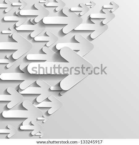 Horizontal arrows - stock vector