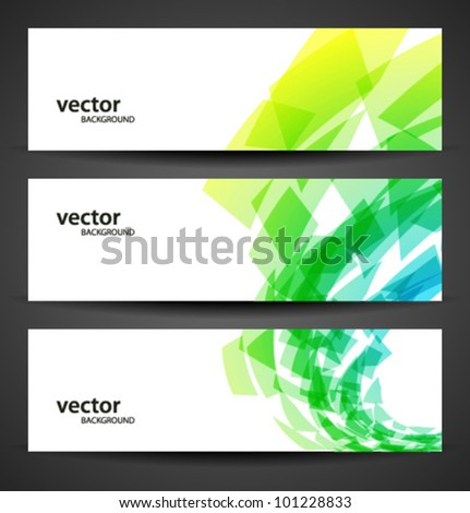 horizontal banner set - stock vector