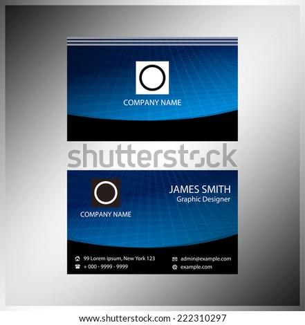 Horizontal business cards  - stock vector