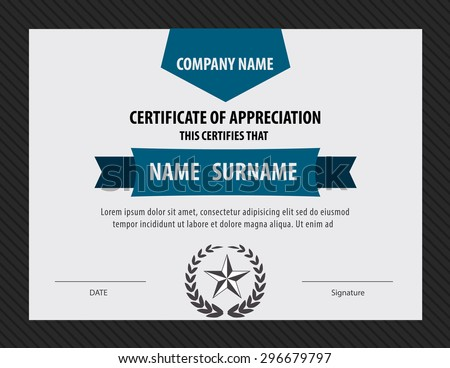 horizontal certificate template,diploma,Letter size ,vector - stock vector