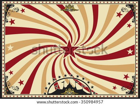 Horizontal poster vortex sunbeams circus. A circus vintage poster with a vortex for your advertising. Perfect size for a screen. - stock vector