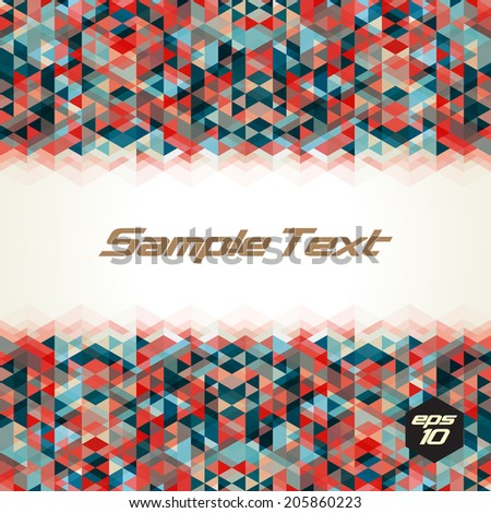 Horizontal seamless abstract triangle pattern. Vector background. Geometric texture. Eps 10. - stock vector
