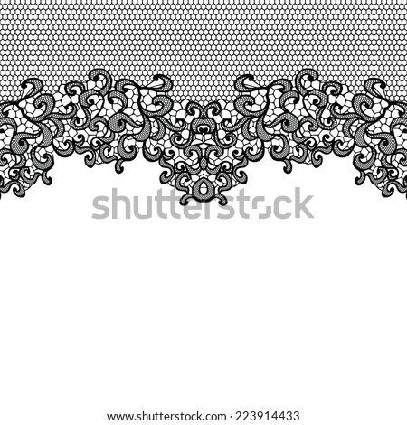 Horizontal seamless background with a floral ornament - stock vector