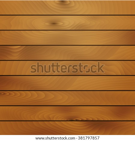 Horizontal wooden planks vector background. Eps10. - stock vector
