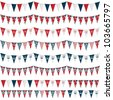 horizontally seamless united kingdom party bunting pack, isolated on white - stock vector
