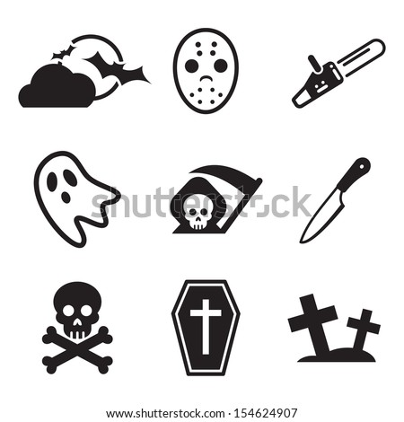 Horror Icons - stock vector