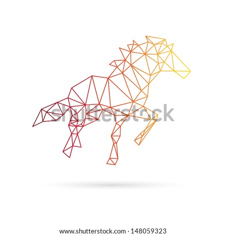 Horse abstract isolated on a white background - stock vector