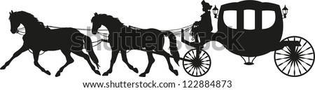 Horse Drawn Carriage Clipart Horse Drawn Carriage