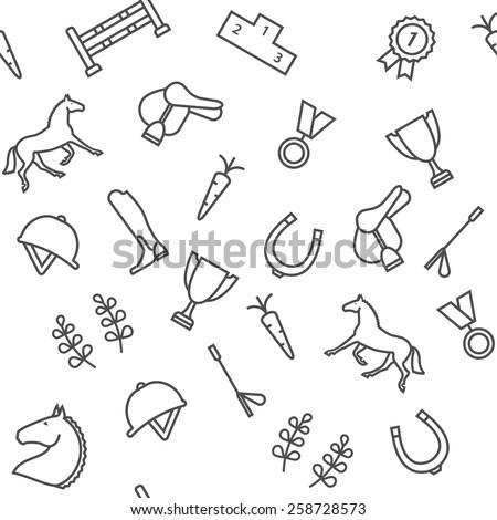 Horse equipment pattern - stock vector