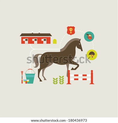 Horse icons - stock vector