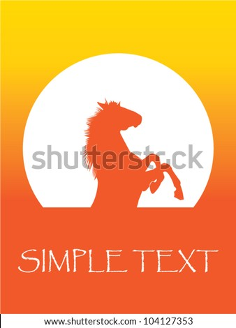 Horse jump - stock vector