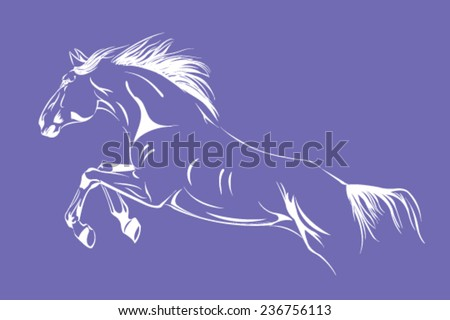 horse jump vector graphic - stock vector