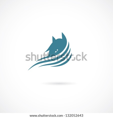 Horse sign - vector illustration - stock vector