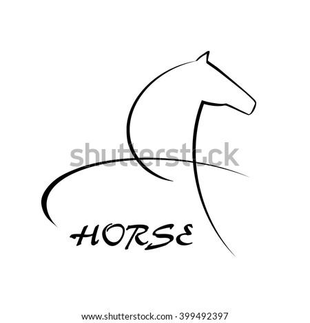 Horse symbol vector. Abstact symbol. Corporate icon. - stock vector