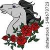horse tattoo - stock vector
