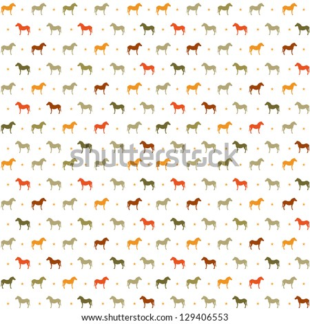 Horses seamless pattern. Vector Illustration, eps10, contains transparencies. - stock vector