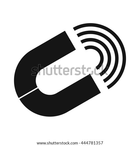 Horseshoe magnet icon in simple style isolated on white background - stock vector