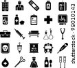 hospital and medical icons - stock vector