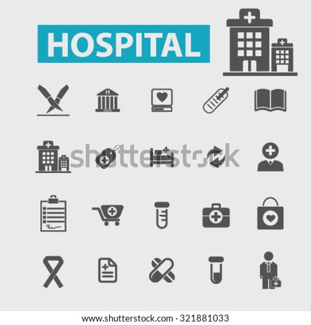 hospital icons - stock vector