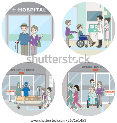 Hospital / Medical care - stock vector
