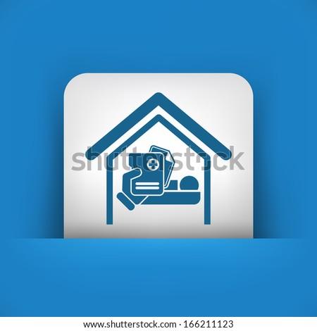 Hospital room - stock vector