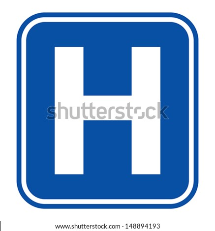 Hospital sign - stock vector