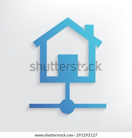 Host symbol design,clean vector - stock vector