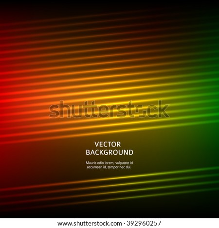 Hot abstract background of bright glow perspective with lighting lines. Gorgeous graphic image template. Abstract vector Illustration eps 10 for your business brochure - stock vector