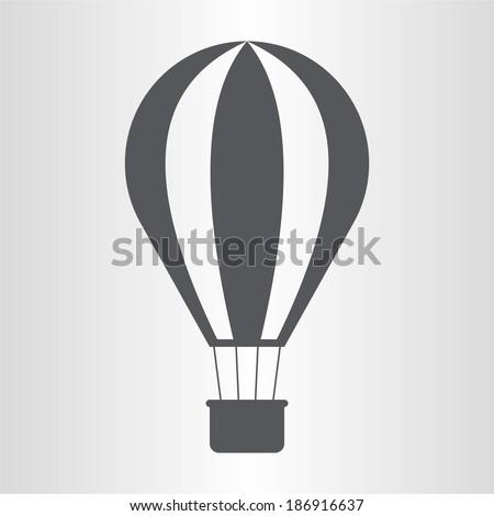 Hot air balloon icon - stock vector