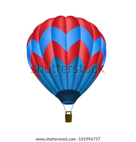 Hot air balloon isolated - stock vector