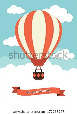 Hot Air Balloon Vector Graphic - stock vector
